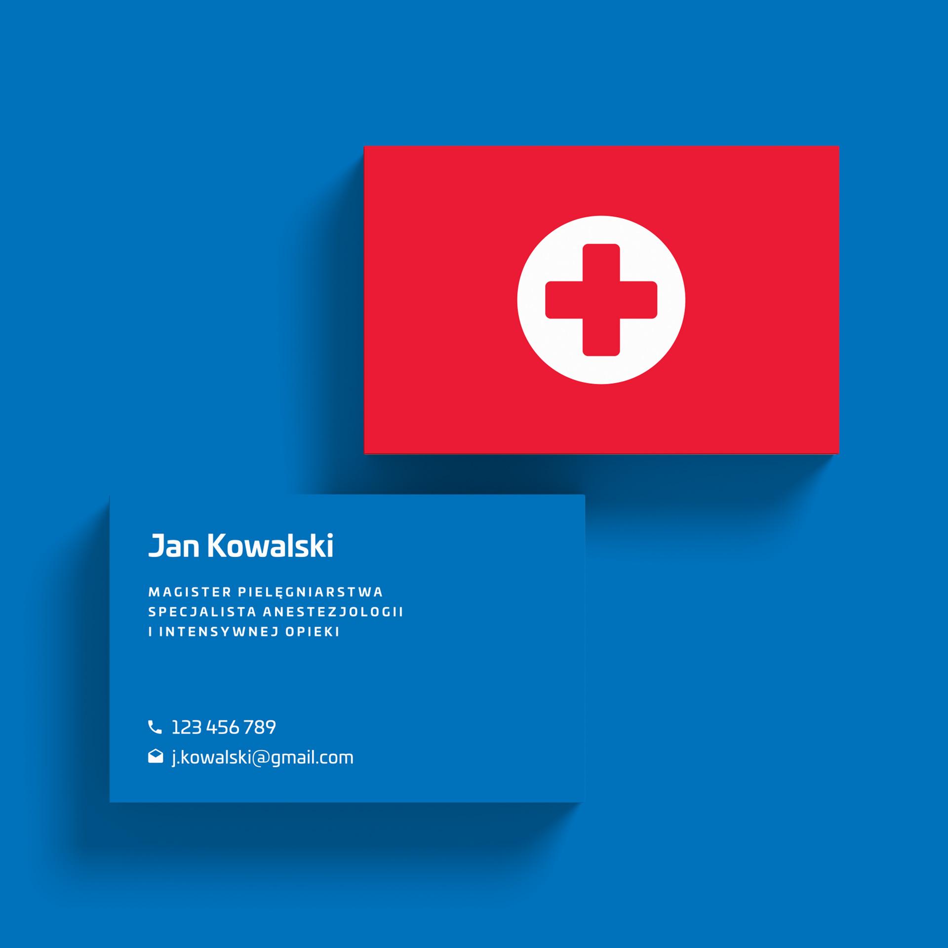 wizytówka dla medyka
